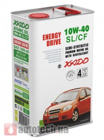 XADO Atomic Oil 10W-40 SL/CF 4 л. - Фото 2