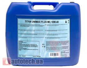 Fuchs Titan Unimax Plus MC 10W-40 20 л. - Фото 2