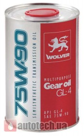 WOLVER Multipurpose Gear Oil GL-4 75W-90 1 л.