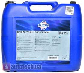 Fuchs TITAN SUPERSYN LONGLIFE 0W-40 - Фото 3