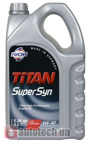 Fuchs TITAN SUPERSYN 5W-40 5 л. - Фото 3
