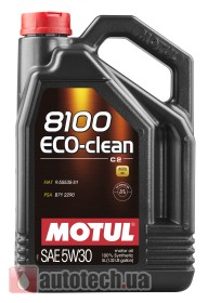 Motul 8100 Eco-clean 5W-30 5 л. - Фото 2